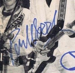 ronnie wood 70s autograph