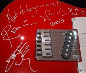 ronnie wood autograph 2003