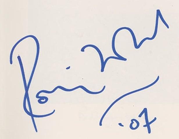 ronnie wood autograph 2007