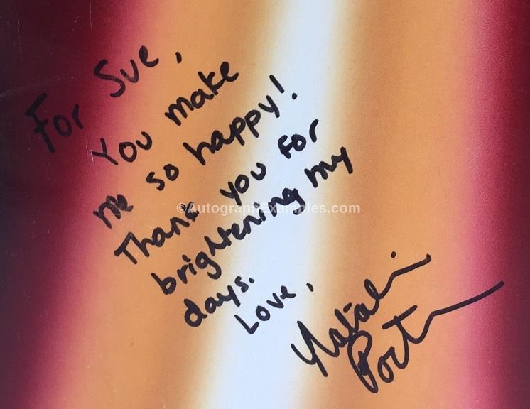 Natalie Portman autograph