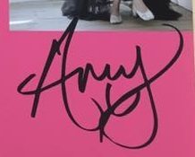 Amy Winehouse autographs